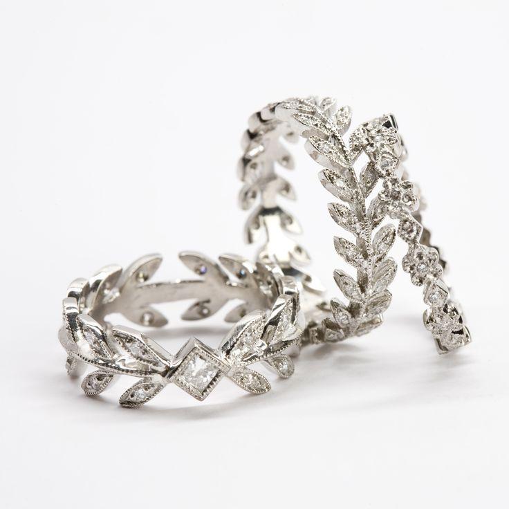 "WHITE  bIRD | Bague ""Laurel leaf"" - Cathy Waterman platinum and diamond rings @ WHITE bIRD Jewellery online + boutique"