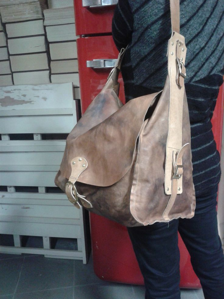 leather big bag handmade