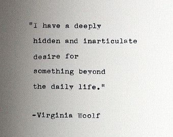 VIRGINIA WOOLF quote typed on a vin tage typewriter ...