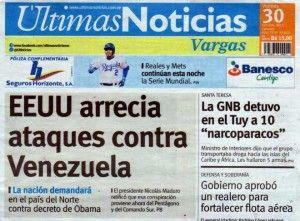Ultimas Noticias Vargas viernes 30 de octubre 2015