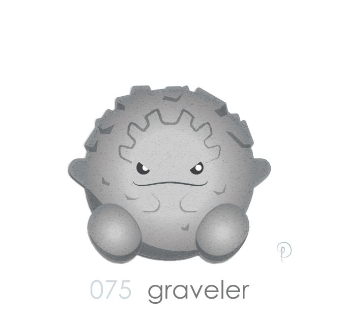 Graveler… For some reason in my head, I've always pictured Graveler as a bit of a chain smoker. Ya know? With the gravely voice and that is oh-so reminiscent of Mrs Bighead on Rocko's Modern...