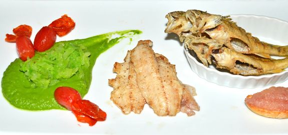 Lake Ontario Yellow Perch (Small and Large), Tomatoes, and Very Green Cabbage