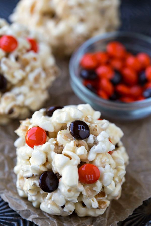 Easy Popcorn Ball Recipe - Halloween party treat or after-school snack! Always a big hit!