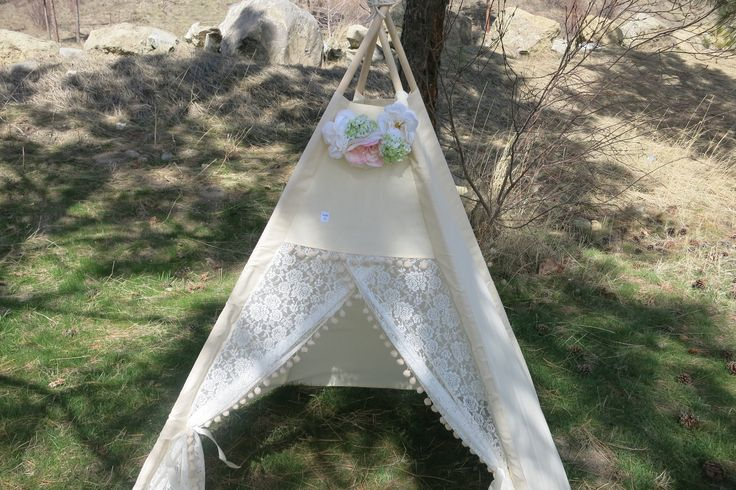 Ready To Ship Lace Teepee Tent by PennyandLuna on Etsy