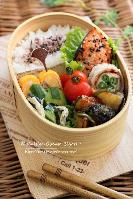 鮭のゴマみりん焼き弁当~パパのお弁当~ の画像|あ~るママオフィシャルブログ「毎日がお弁当日和♪」Powered by Ameba
