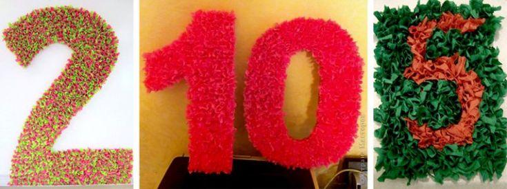 цифры и буквы в технике торцевания