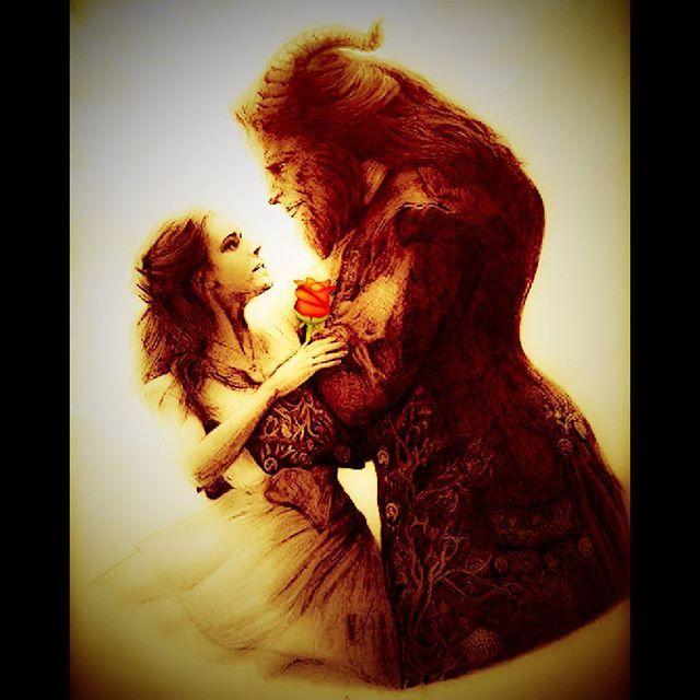 Beauty and the Beast...tale as old as time...nostalgia 90-an (mawar, buku, kuda..☺) ^Belle, si beauty yang dianggap aneh karena kecintaannya pada buku, suka bunga mawar yang selalu dibawakan oleh ayahnya yang selalu ditemani philippe si kuda cerdas ^Beast, pangeran yang dikutuk jadi monster, punya perpustakaan pribadi yang menakjubkan (marry the beast and get the library ) .....hmm ternyata Belle lebih mudah jatuh cinta kepada Beast daripada Gaston si tampan yang suka narsis (terbukti wanita