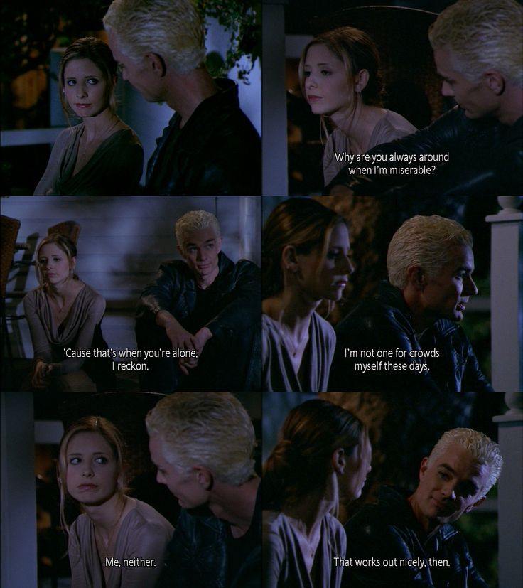 Rare moment of Buffy and Spike being nice to each other