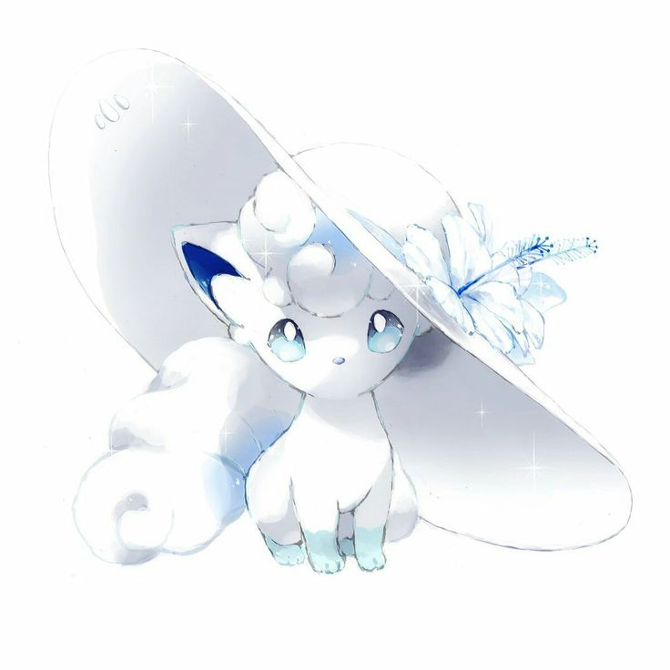 Snowy the Alolan Vulpix from Sun and Moon Anime
