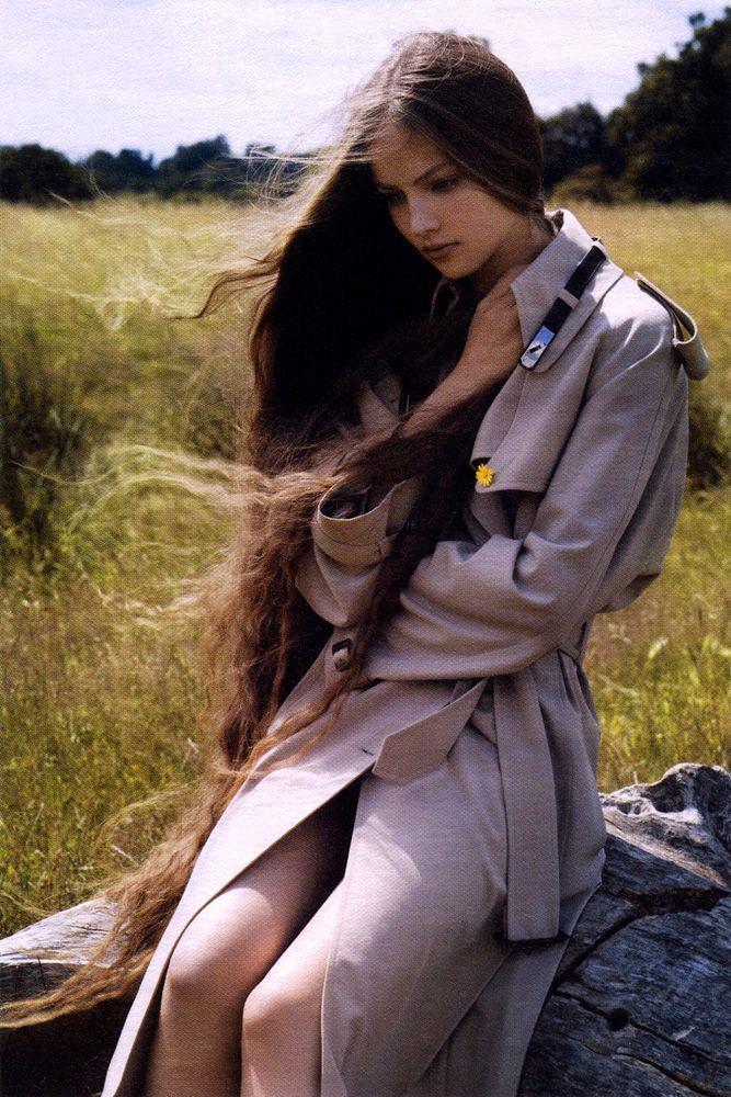 long Long Hair Style, Mermaid Hair, Healthy Hair, Longhair, Long Wavy Hairstyles, Hair Looks, Mario Sorrenti, Brown Hair, Ruslana Korshunova