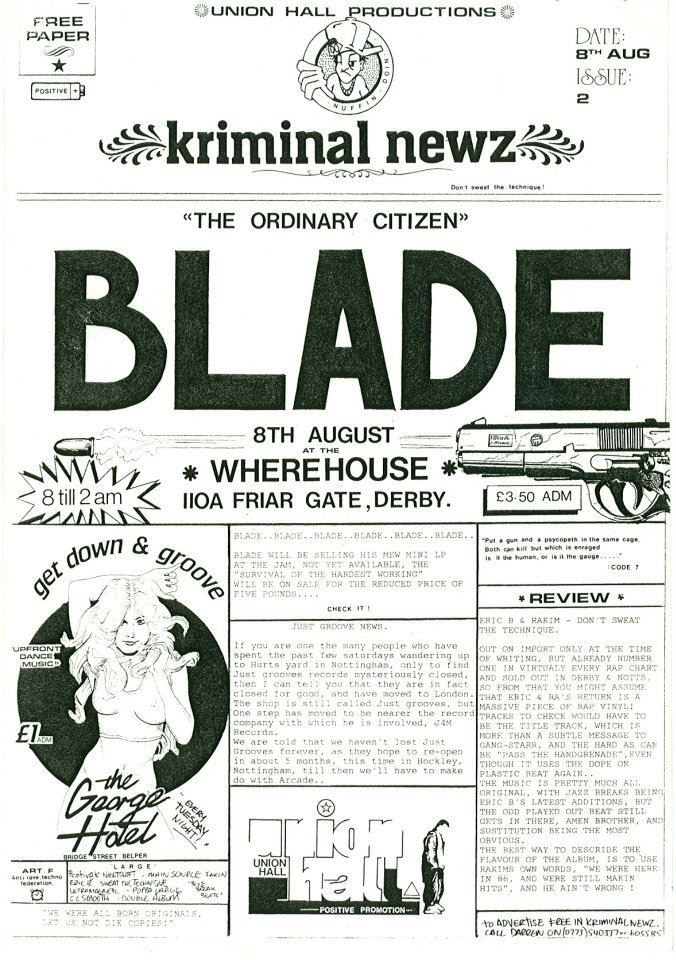 Unknown Date - Blade (UK)