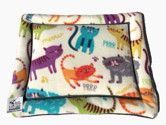 Lit pour chat très colorée ludiques chatons caisse par ComfyPetPads