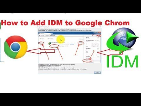 How To Add IDM with google chrome for Download video? just