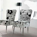 Black and White Comic Book Upholstery for The Fascinating Chairs