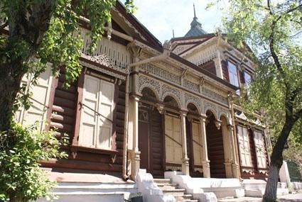 russian wooden house,Chita,Russia