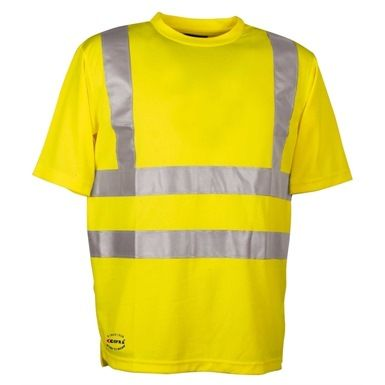 The Cofra V115 Danger Hi Vis T-Shirt features a special 3d weft for good breathability with its fibers that absorb perspiration, leaving the skin feeling exceptionally dry. It of course also has the essential 3M reflex stripes.