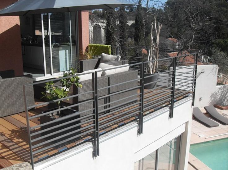 Garde corps terasse uzes nimes al s gard 30 fabrication for Barriere metallique exterieur