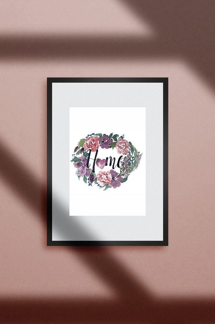 Aquarelle-Blumen-Kranz,DIY, Druckbare Kunst,Watercolor Wreath,Poster, Digital,Sofort-Download,Selbstausdrucken,Hochzeitsgeschenk
