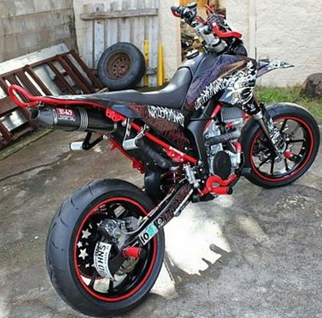 Motocross bike turned street legal