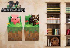 minecraft väggdekal för barnen