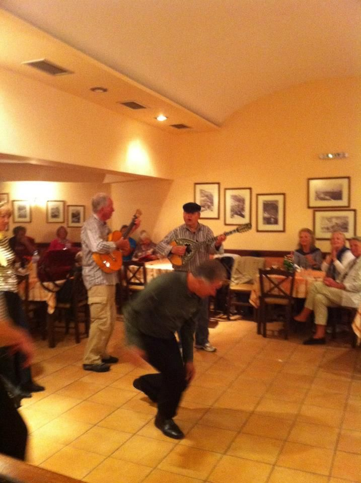 Greek Night at Anemomilos Restaurant, in the #traditional_Village_of_Oia.
