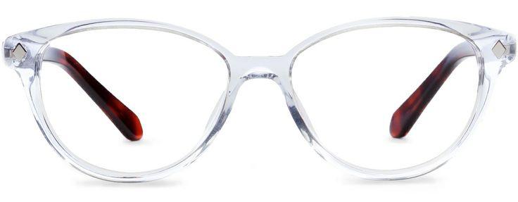 Designer Eyeglass Frames With Crystals : Rivet & Sway Frames : Plus One in Crystal Clear (I prefer ...