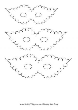Several free printable mask templates.