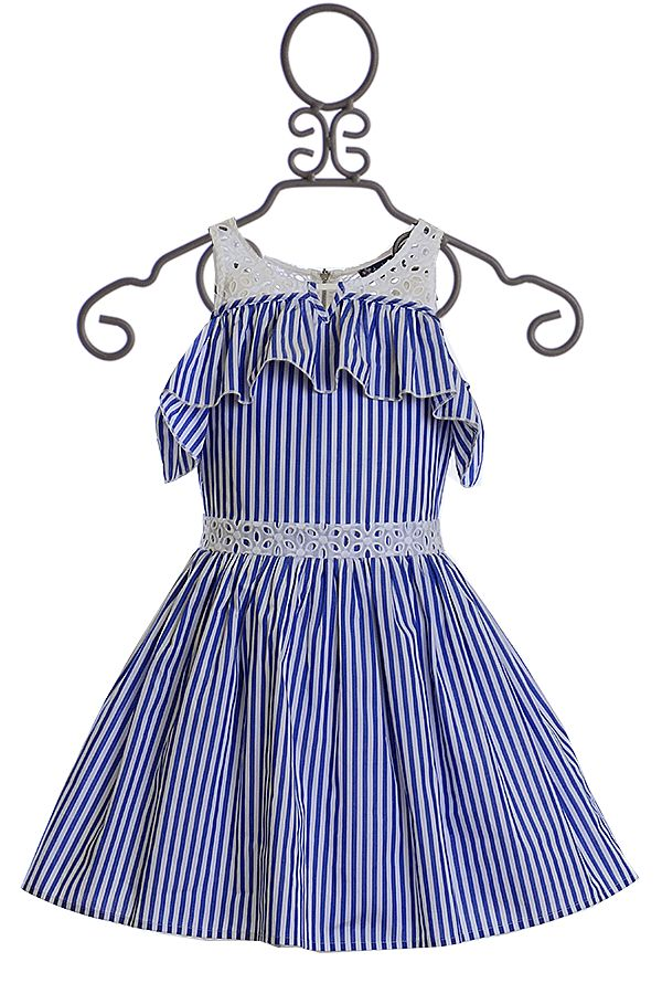 Truly Me Blue Stripe Dress for Girls
