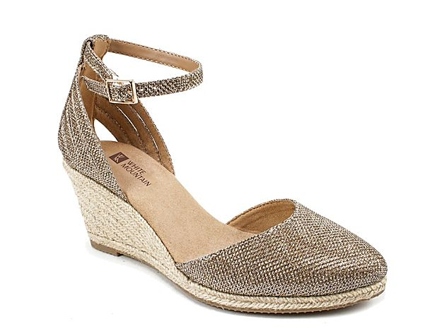 35183908964 Women Cisco Espadrille Wedge Sandal -Gold Metallic | Products in ...