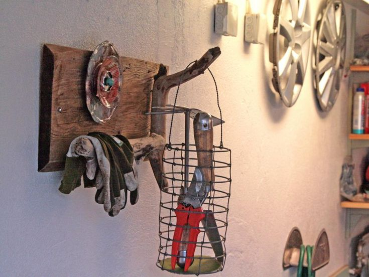 Upcycled decor is smart and savvy, so why save all the best ideas for inside the home? We've gathered clever redos from inspired DIYers with a talent for giving new life to old things that are perfect for the garage.