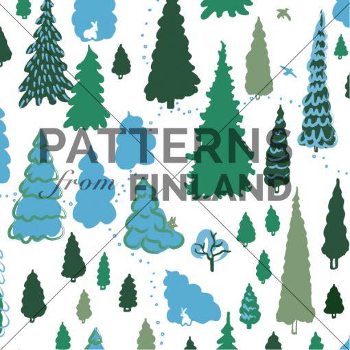 Tanja Kallio: Kuusikko – Suojasää #patternsfromagency #patternsfromfinland #pattern #patterndesign #surfacedesign #tanjakallio