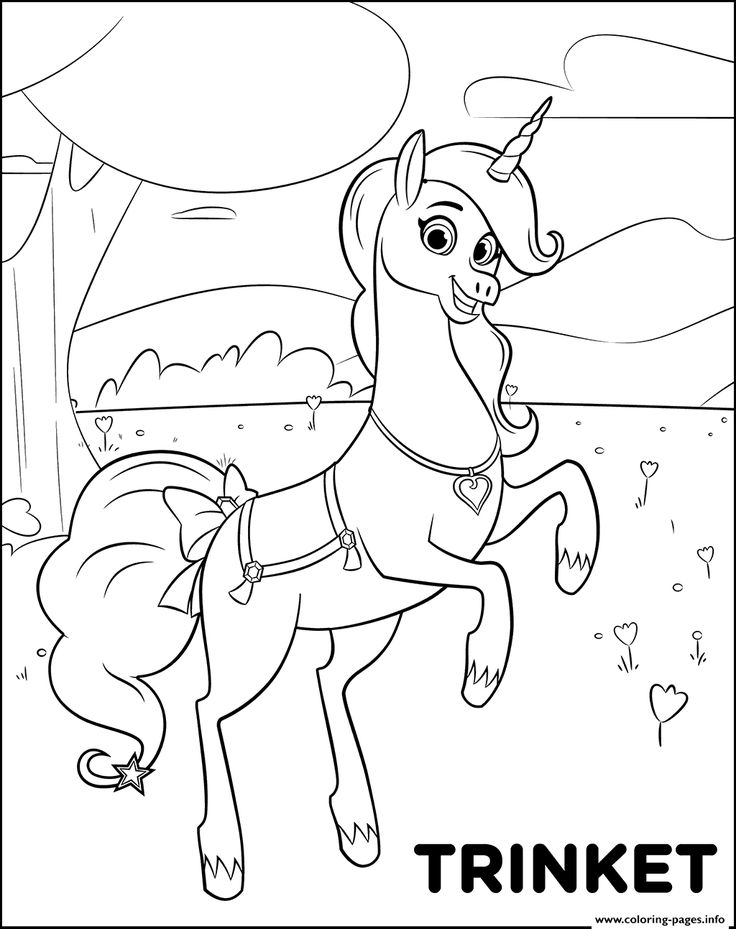 Print Magical Pet Unicorn Trinket for girls coloring pages ...