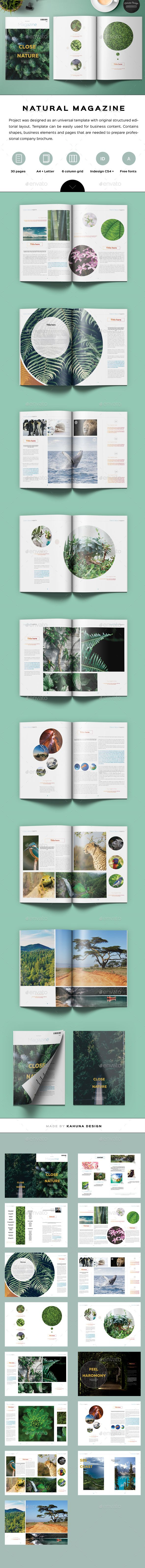 Natural Magazine  — InDesign Template #modern #lookbook • Download ➝ https://graphicriver.net/item/natural-magazine/18086670?ref=pxcr