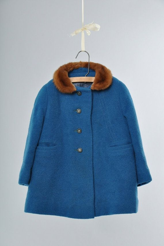 Little Nugget vintage wool coat for kids