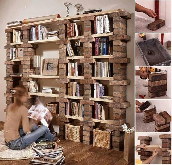 Brick shelves
