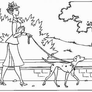 free coloring pages 101 dalmatians page 5 dalmatian with a check - Coloring Pages 101