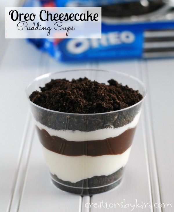 These Oreo Cheesecake Cups are an easy dessert recipe that everyone will love!