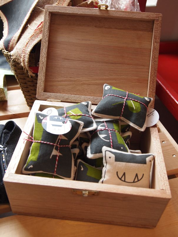 Wooden Display box full of Little Fang Monsters.