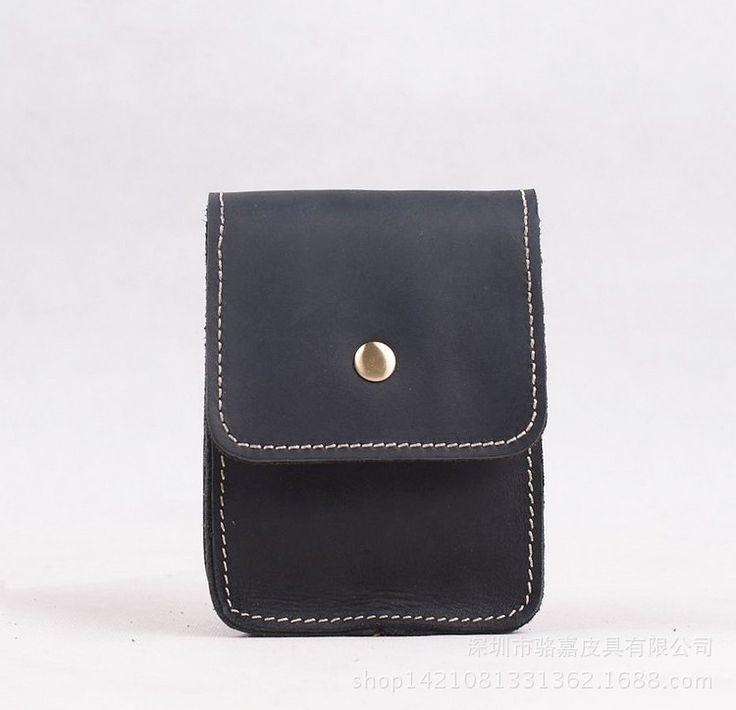 100% cowhide leather waist bag small men bags crossbody genuine leather waist pack mini cell phone bag men messenger bags #Affiliate