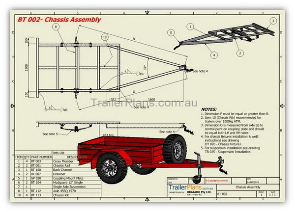 BOX TRAILER PLANS - Build your own trailer www.trailerplans.com.au