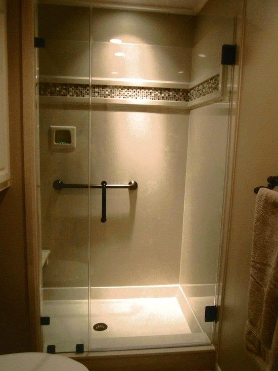Interior Design, Conventional Bathroom With Beige Cultured Marble Shower Walls Also Cool Drain Design With Glass Door Shower Room Also Light Brown Wall Paint Color And Mosaic Tiling Wall Acccent: Cultured Marble Countertops, Bathroom and Living Room