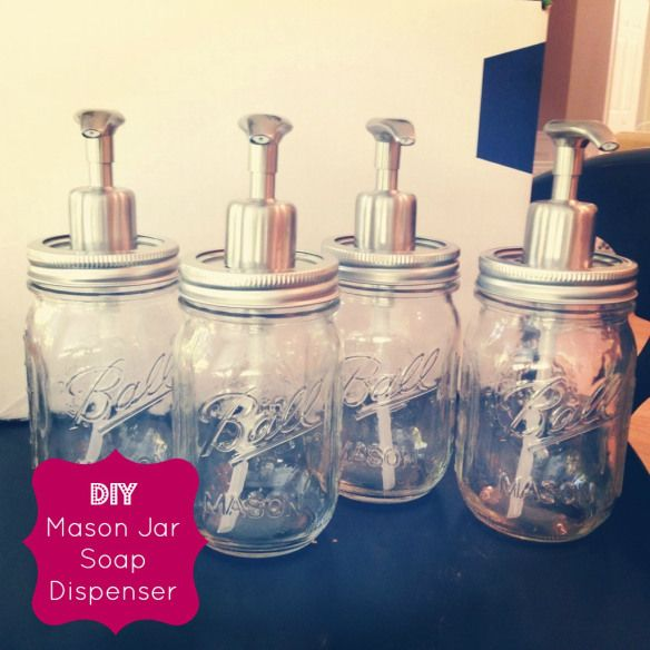 DIY Mason Jar Soap Dispenser Pinterest Jars, Soaps and