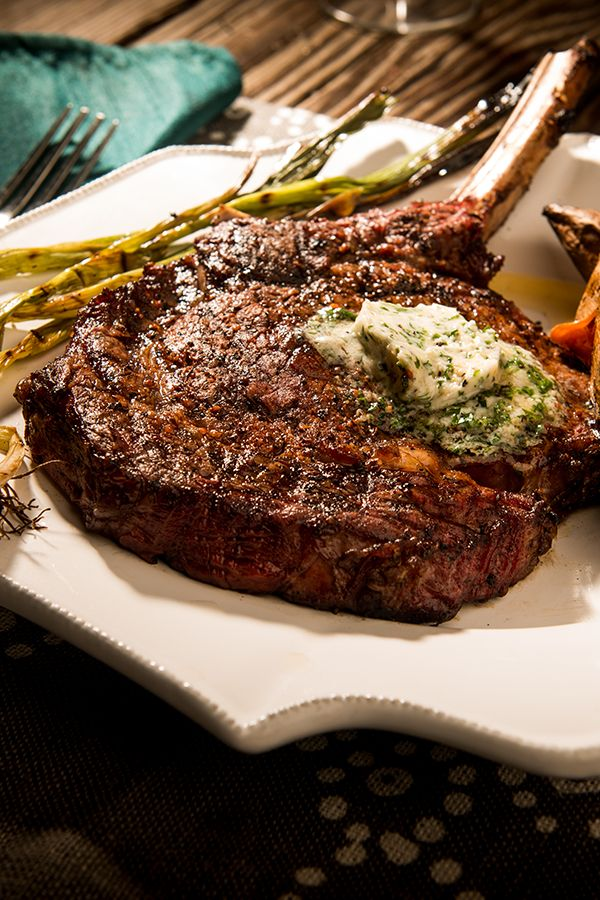 This dangerously delicious bone-in rib eye steak is enveloped in Traeger Prime Rib Rub and crowned with Bourbon garlic butter. Give this Prime cut a low and slow smoke to enhance the natural beef flavors. With superior cuts of meat and hardwood smoke, creating excellently flavorful meals is simple.   http://www.traegergrills.com/recipe?recipeid=smoked-rib-eyes-bourbon