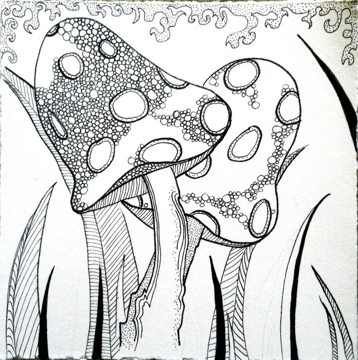 mushroom zentangle by my sister Julia!