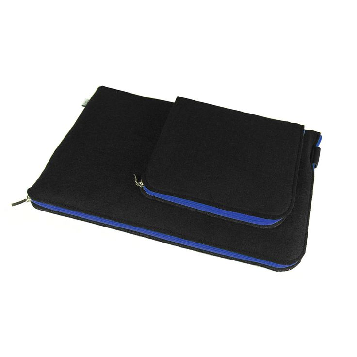 ETUI NA LAPTOPA I ZASILACZ 06 #black #laptopcover #macbooksleeve #laptopsleeve #blue #zipper #macbook #schutzhulle