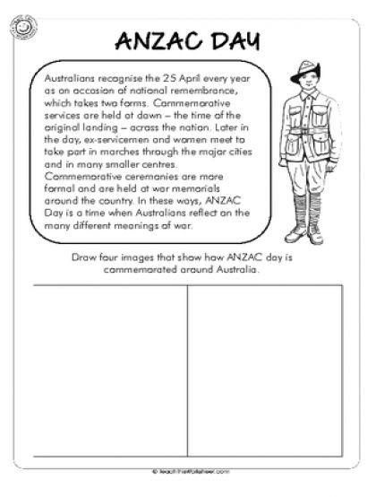 ANZAC Day Comprehension Activity - Lower Prim.