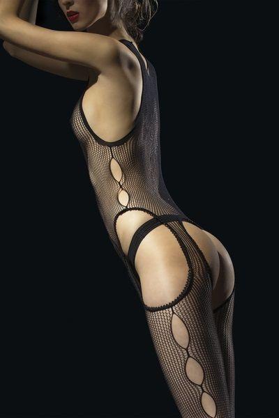 Síťované bodystockings Fiore Secreto - vzorované
