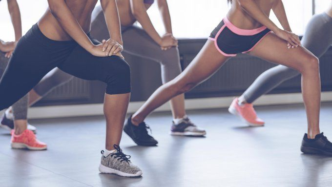Femme sport cuisses