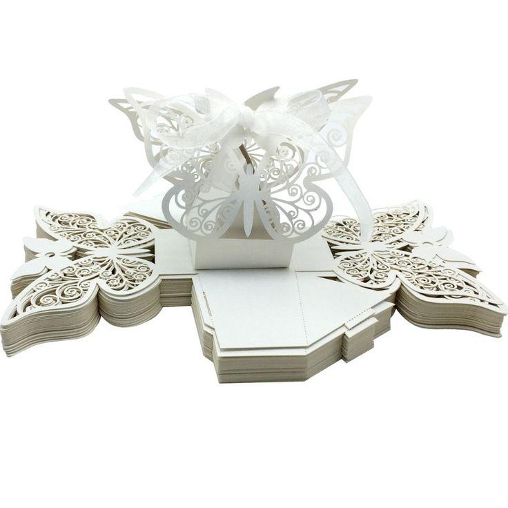 Купить 50 шт. лазерная резка бабочка свадебный коробка в перл цвет коробки конфет для свадьбы ну вечеринку конфеты пользу подароки другие товары категории События и праздничные атрибутыв магазине Princess&DiaryнаAliExpress. коробка конверте и свадьба конфеты коробка