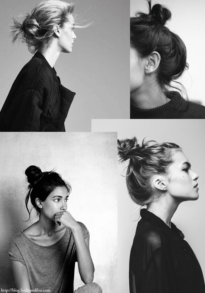 messy hair buns I love